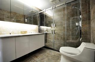 165㎡中式风格装修卫生间设计图