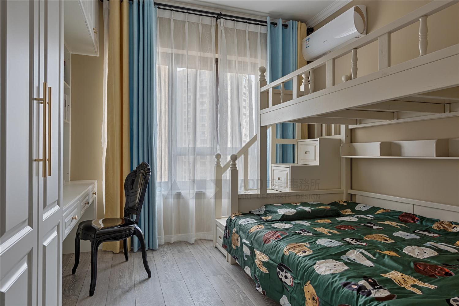 现代美式风三居儿童房装修效果图