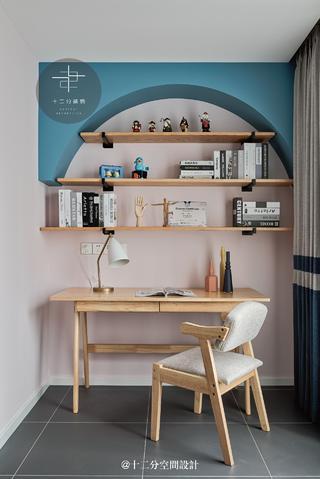 北欧风格二居装修书桌设计图