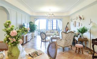 160㎡法式风格客厅装修效果图