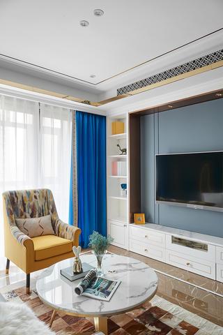 89㎡现代混搭风格装修客厅一角