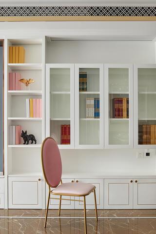89㎡现代混搭风格装修书柜设计图