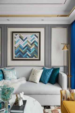 89㎡现代混搭风格沙发背景墙装修效果图