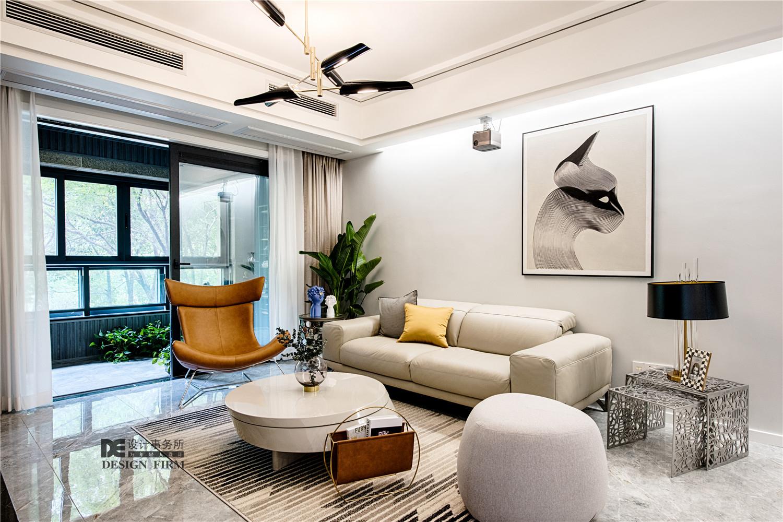 现代风二居客厅装修效果图
