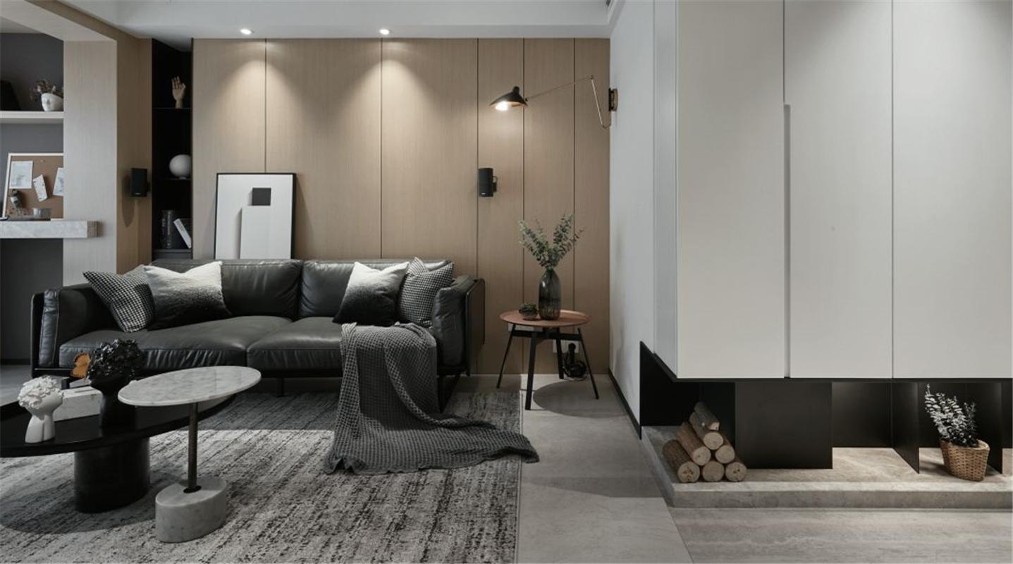 现代风格三居室沙发背景墙装修效果图