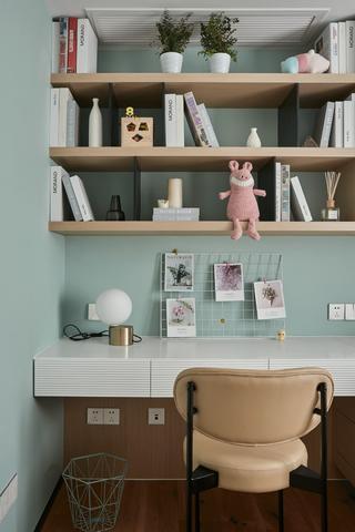 现代风格三居室装修书桌架设计