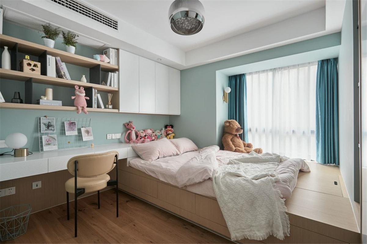 现代风格三居室榻榻米儿童房装修效果图