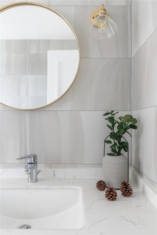 160㎡北欧风格装修洗手台设计