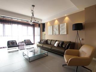 现代简约三居客厅沙发墙装修效果图