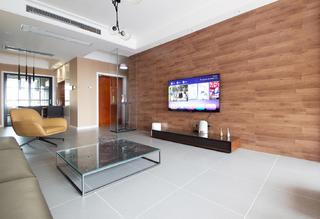 现代简约三居电视背景墙装修效果图