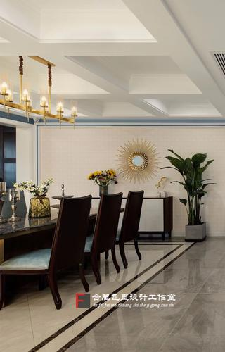 美式风格别墅餐厅吊顶装修效果图
