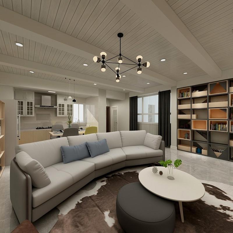 110平两居室客厅装修效果图