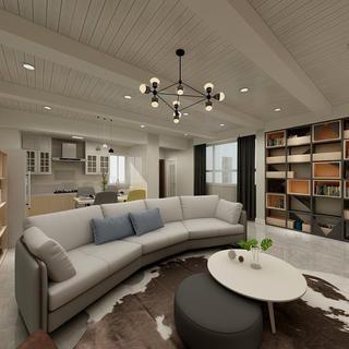 110平两居室客厅每日首存送20