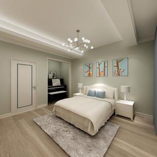 110平两居卧室装修效果图