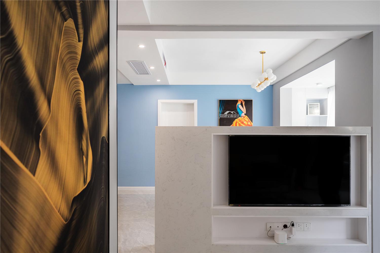 现代简约风格复式装修电视墙效果图