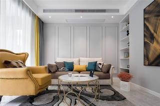 现代简约风格复式装修沙发背景墙效果图
