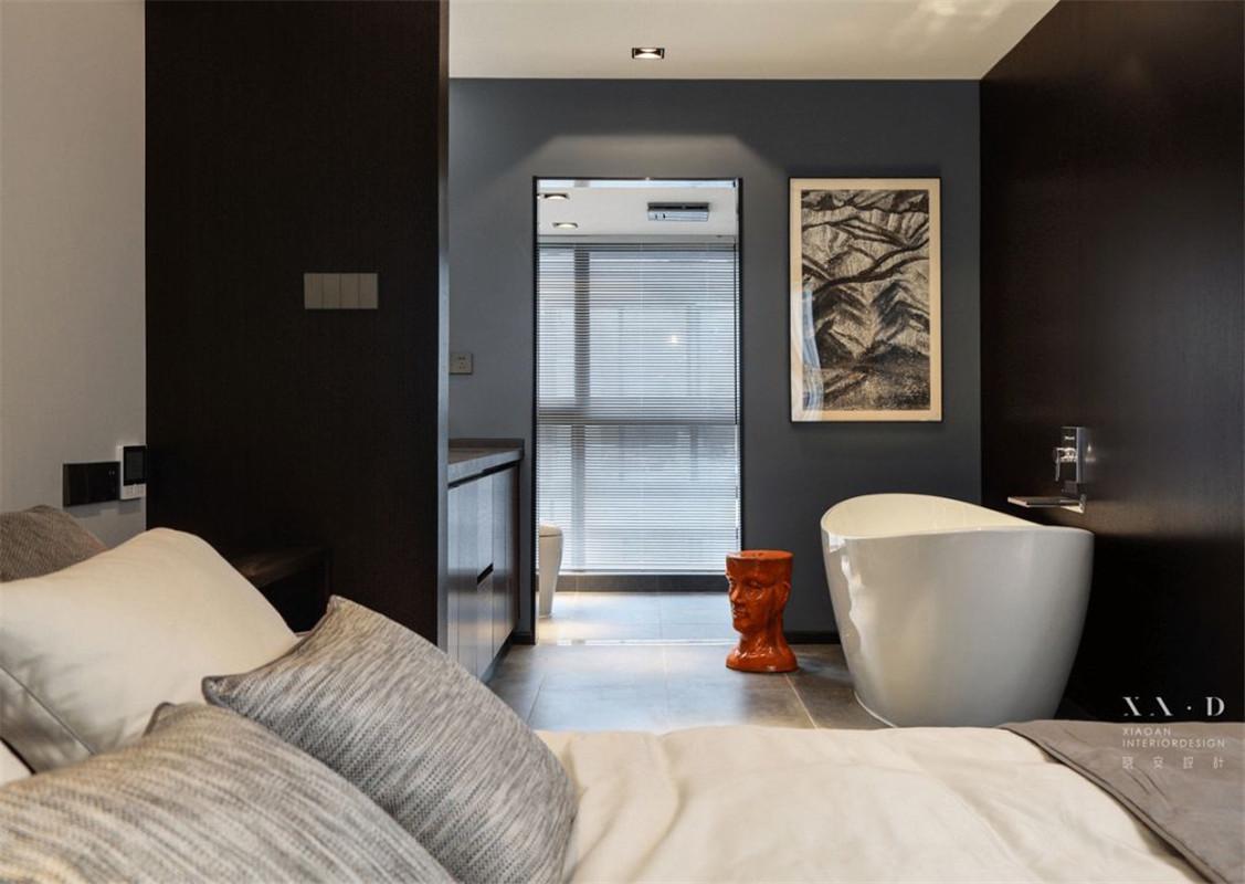 现代简约风格别墅装修卧室浴缸设计