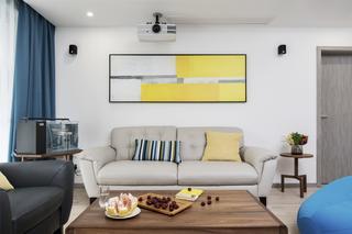 170平现代简约沙发背景墙装修效果图