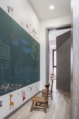 170平现代简约装修黑板墙设计