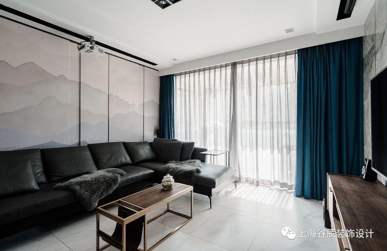 120平三居室客厅沙发墙装修效果图