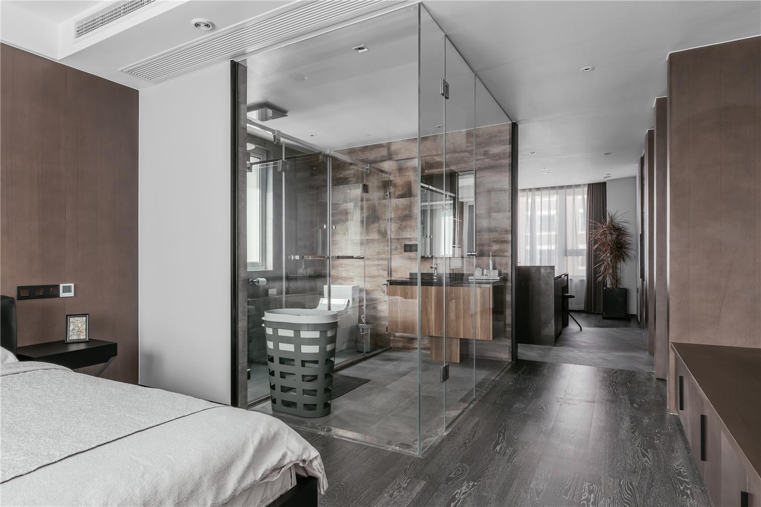 140m²现代风格卧室卫生间装修效果图