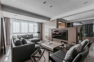 140m²现代风格客厅装修效果图