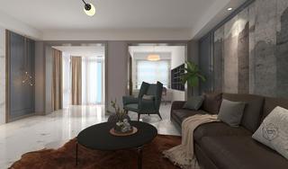 现代简约三居客厅装修效果图