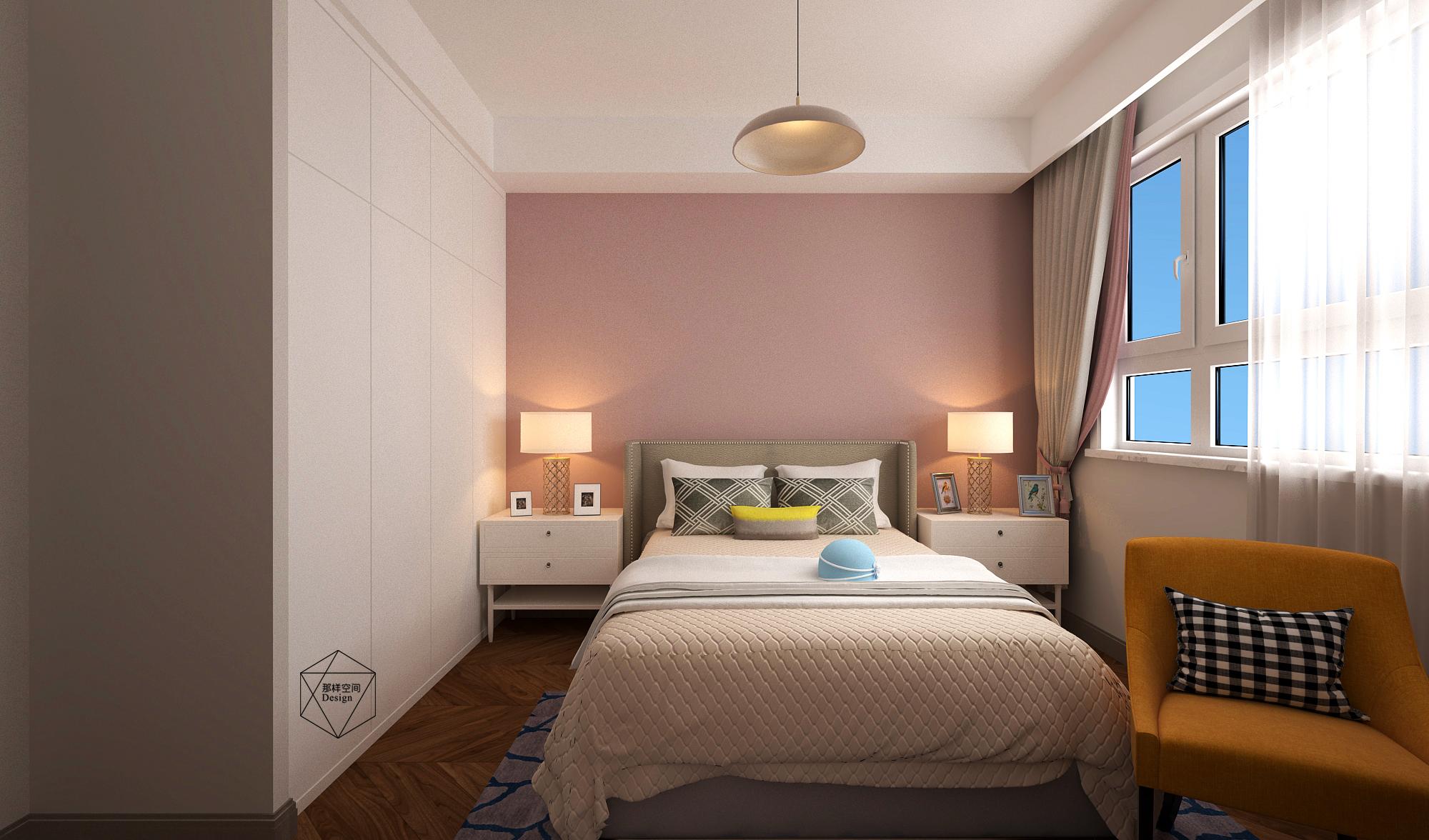 现代简约三居卧室装修效果图