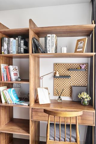 90㎡日式二居装修书桌架设计
