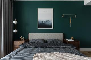 混搭风三居卧室背景墙装修效果图