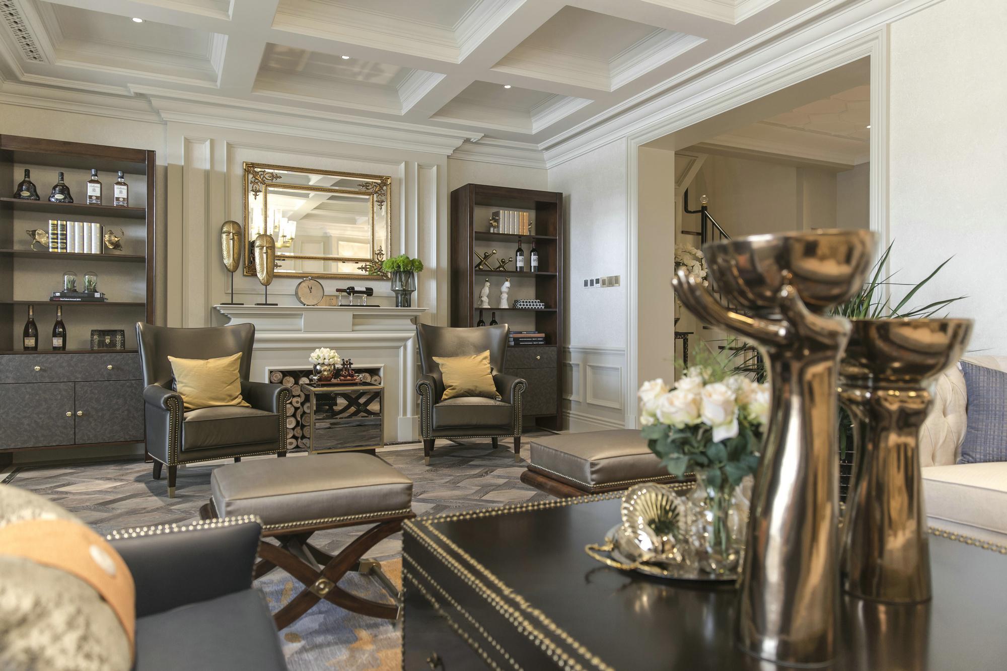 新古典别墅客厅装修效果图