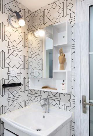 89㎡北欧风格装修洗手台设计
