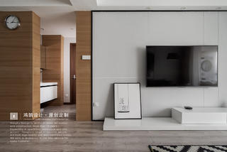100平现代简约电视背景墙装修效果图