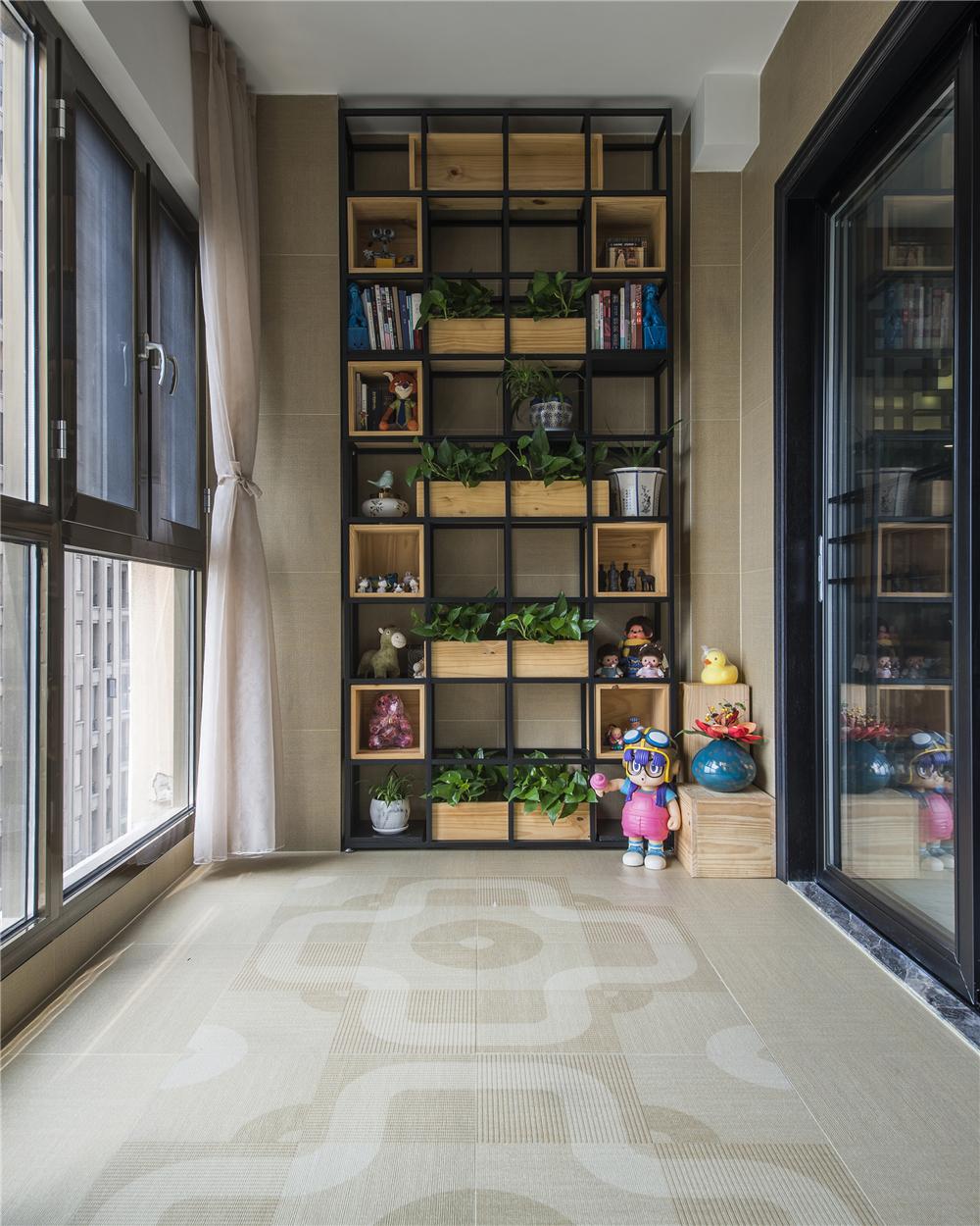 180平新中式装修阳台设计图