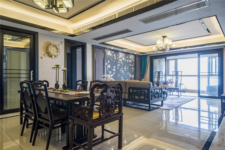 180平新中式客餐厅装修效果图