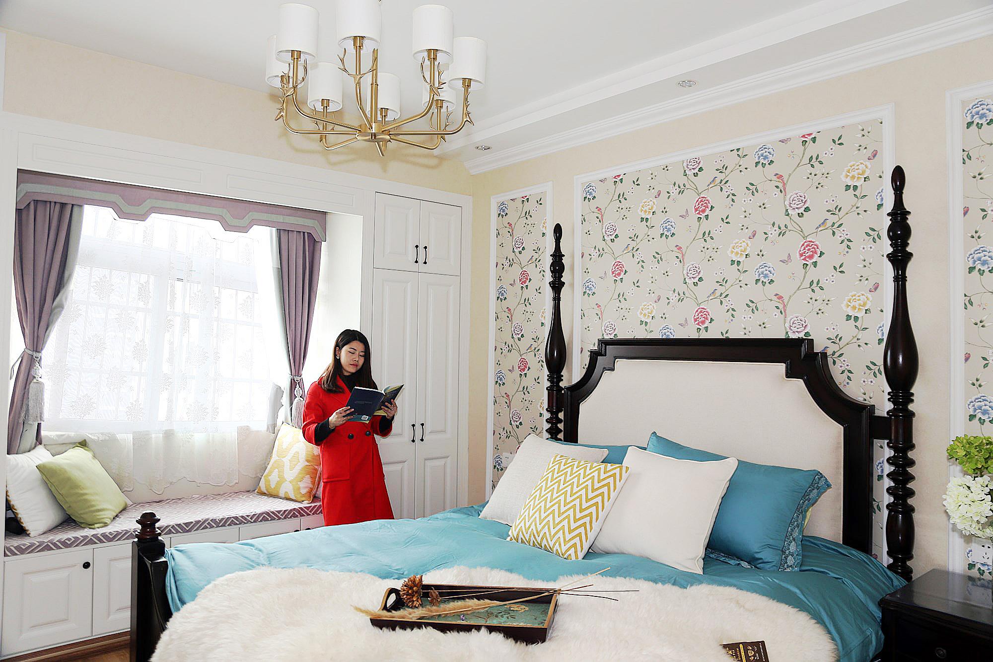 115㎡美式风格卧室装修效果图