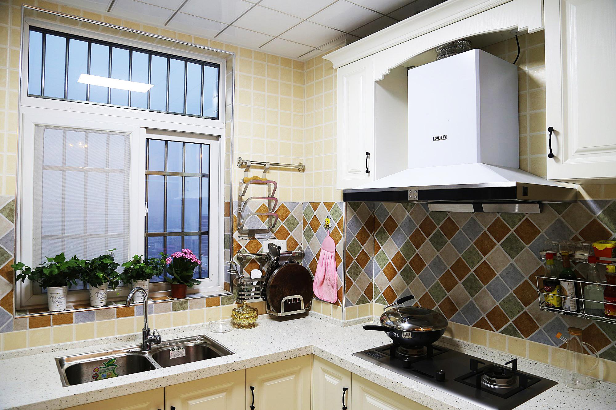 115㎡美式风格厨房装修效果图