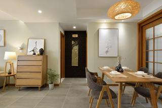 日式风格三居室餐厅装修效果图