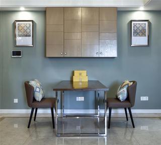 现代混搭三居室餐厅装修效果图