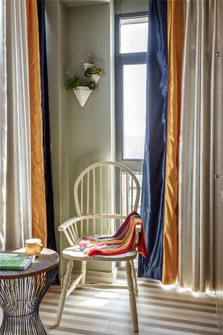 现代混搭三居室装修阳台休闲一角