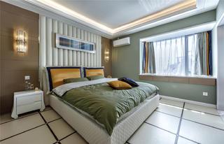 现代混搭三居卧室装修效果图