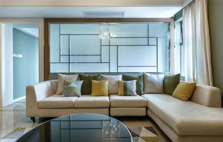 现代混搭三居室装修客厅沙发设计