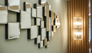 现代混搭三居室装修镜面装饰设计