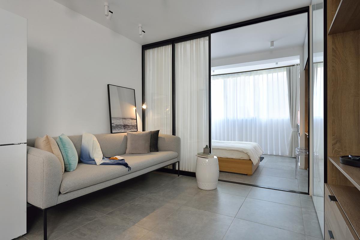 70平二居室客厅装修效果图