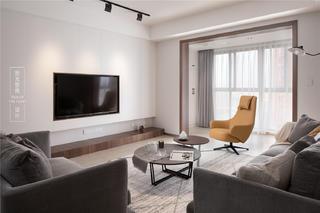 135平现代简约客厅电视墙装修效果图