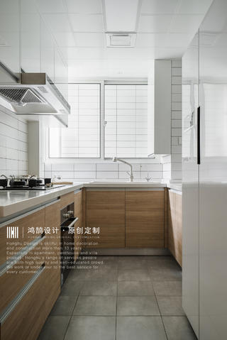 日式风格二居厨房装修效果图