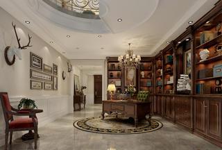 法式别墅书房装修效果图