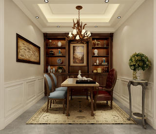 法式别墅茶室装修效果图