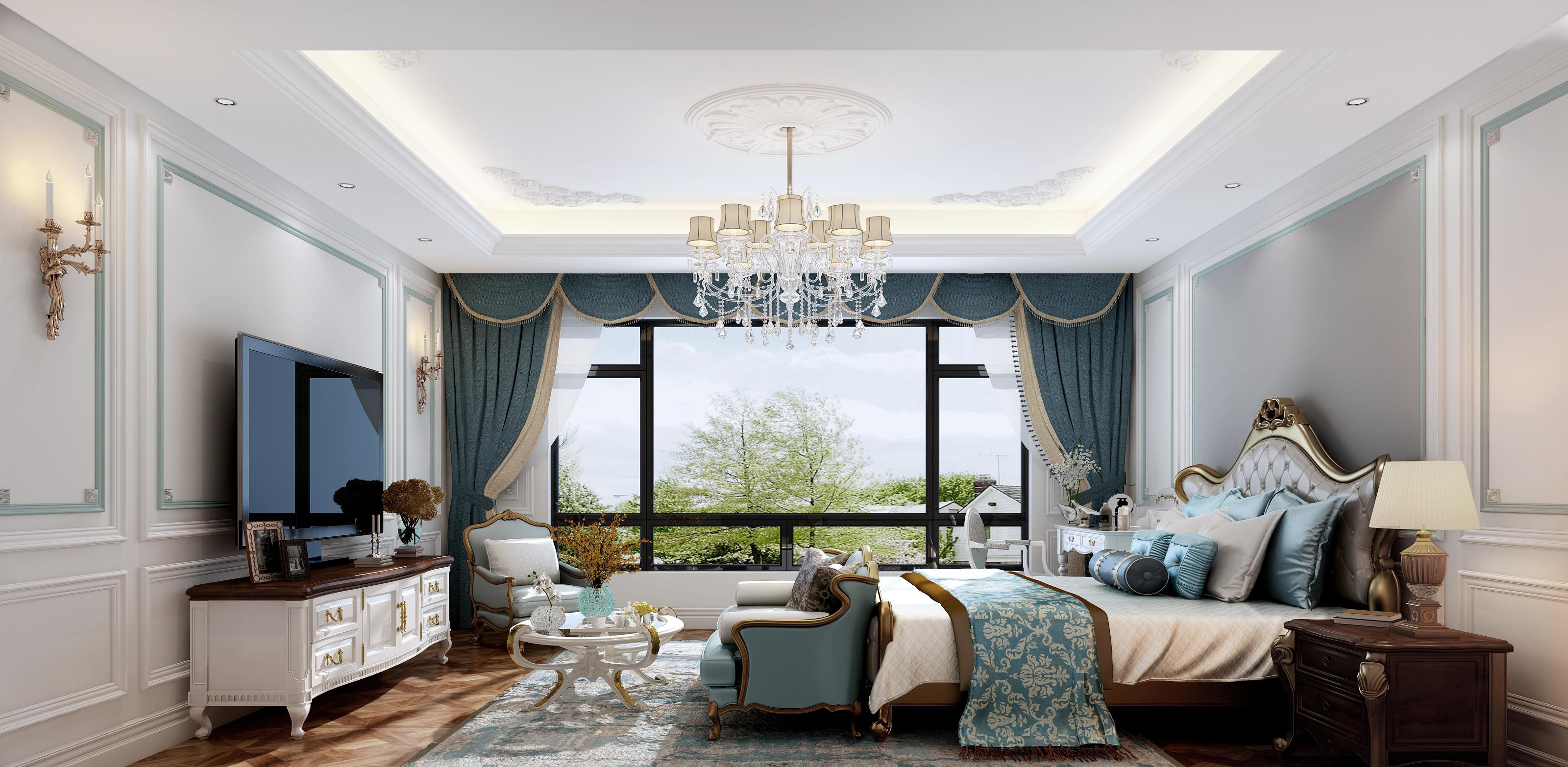 法式别墅卧室装修效果图