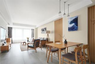 日式风格三居室客餐厅装修效果图